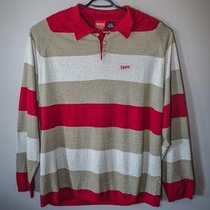 Enyce Brand Denim Striped L/S Pullover Sweater